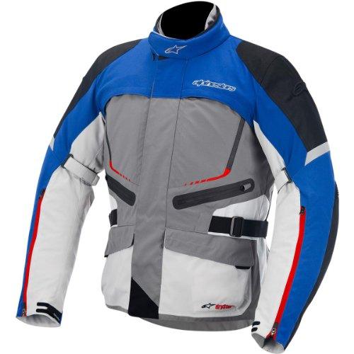 Alpinestars Valparaiso Drystar Jacket , Gender: Mens/Unisex, Apparel Material: Textile, Primary Color: Gray, Size: Md, Distinct Name: Gray/Blue/Red/Sand 3204014-1738-M (Alpinestars Armor Jacket)