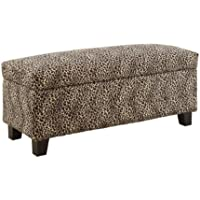 HOMELEGANCE 471LP Leopard Print Lift-top Storage Bench/Ottoman