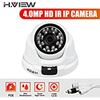 H.View 4.0MP (2560X1440) IP Security Camera With Audio Input POE Dome Camera Outdoor/ Indoor Night Vision up to 30M