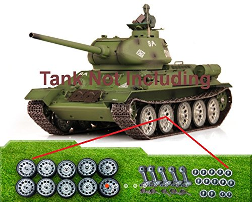 Upgrade Metal Road Wheels Set For 1/16 Scale Russian T-34/85 RC Tank