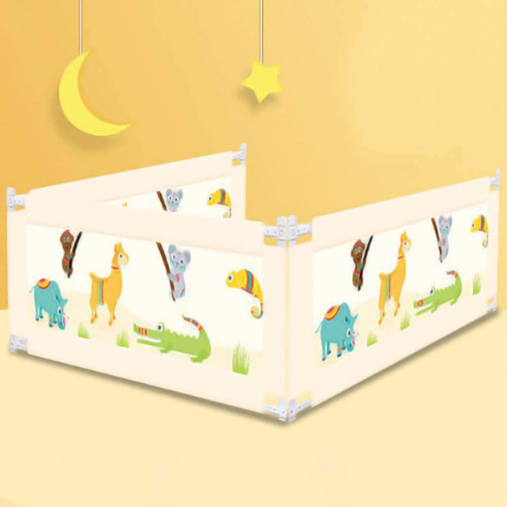 ベッドガード 幼児調整ガードレールの3枚のためにベッドガードレールエクストラロングベッド安全垂直リフティングベッドレール (色 : ベージュ, サイズ : 150x200x200cm)