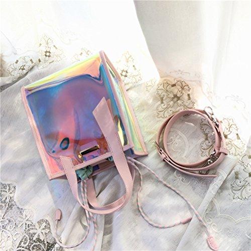Lucido Tracolla Sacchetto Pvc Messaggero Trasparenti Impermeabile Del Rosa Sacchetti Plastica Ttd Colorato qT8anwxtI