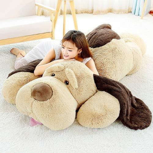 WNSS9 80cm grande lindo de Labrador Perro Simulaci/ón de la mu/ñeca de juguete de felpa mu/ñeca animal realista peluches del perrito de peluche rellenos ni/ños durmientes suaves almohadas de felpa Juguete