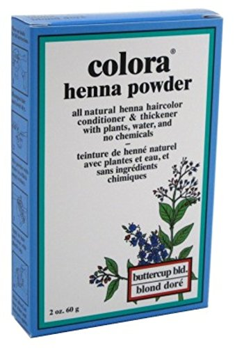 Colora Henna Powder Hair Color Butter-Cup Blonde 2oz (6 Pack)