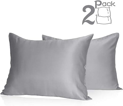 Amazon Com Muama Satin Pillowcases 2 Pack Silky Pillow Cases