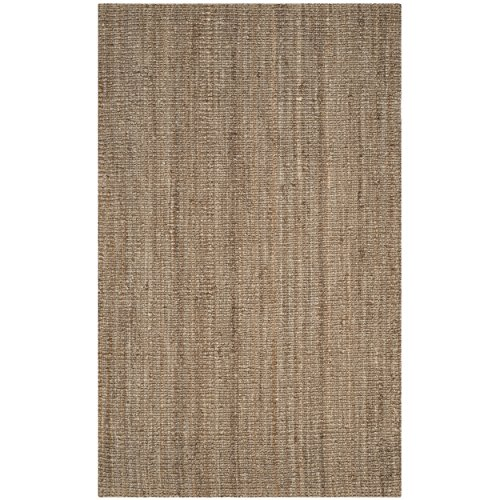 Safavieh Natural Fiber Collection NF447M Hand Woven Natural and Grey Jute Area Rug (2'6 x 4')