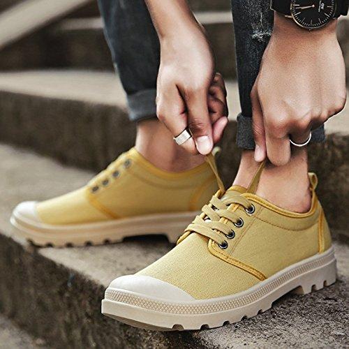 Chaussures Chaussures Mode Chaussures Sport chaussurs de Jaune Baskets Tennnis Loisir Homme Bassese de CHNHIRA BRqvgwn