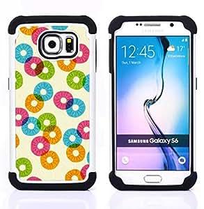 For Samsung Galaxy S6 G9200 - pineapple pattern abstract orange teal Dual Layer caso de Shell HUELGA Impacto pata de cabra con im??genes gr??ficas Steam - Funny Shop -