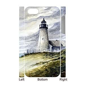 ALICASE Design Diy hard Case Lighthouse For Iphone 4/4s [Pattern-1]