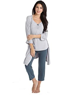 e26f8b72081 My Bella Mama Maternity Nursing Pajama Shorts PJ Set Pregnancy ...