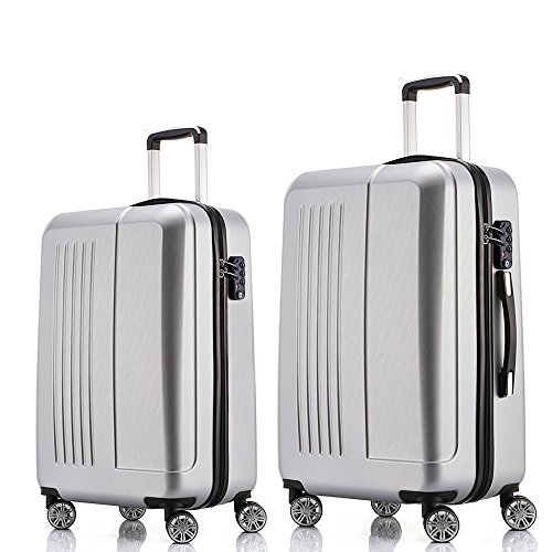 Fochier Luggage Sets 2 Piece Expandable Hardside Spinner Suitcase