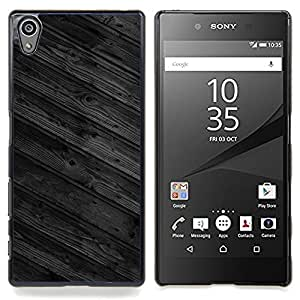Wood Wall Floor Design Architecture Grey Caja protectora de pl??stico duro Dise?¡Àado King Case For Sony Xperia Z5 5.2 Inch Smartphone