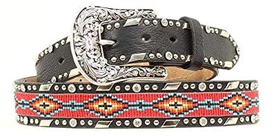 Ariat Accessories Women's Beaded Ribbon Inlay Belt