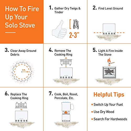 Solo Stove Campfire - 4+ Person Compact Wood Burning Camp