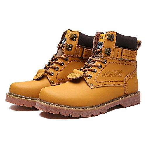 Stivali Stivali Rotonda Retro Casual Di Yellow Inverno Pelle Testa Inghilterra Stivali Martin Popolari Stivali Moda Stivali nYxBzwqvP