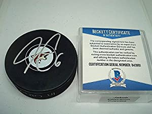 Jakob Chychrun Signed Arizona Coyotes Hockey Puck Autograph - Beckett Authentication