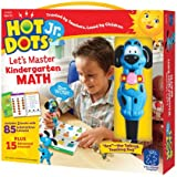 Educational Insights Hot Dots Jr. Let's Master Kindergarten Math Set, Homeschool & School Readiness, 2 Books & Interactive Pen, 100 Math Lessons, Ages 5+