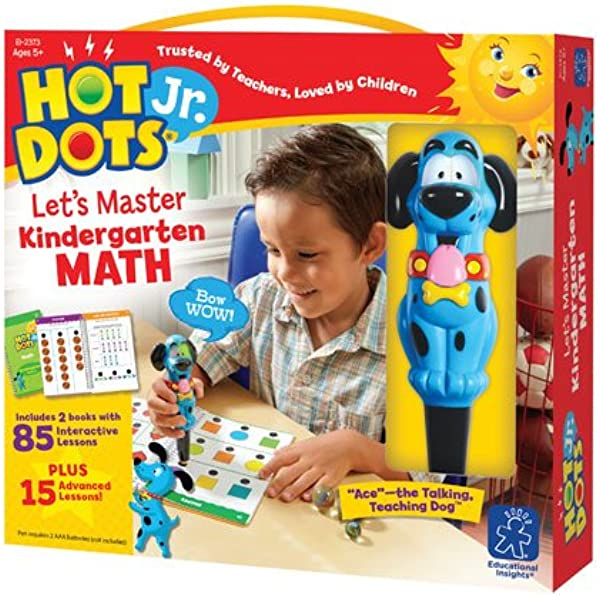 Amazon.com: Educational Insights Hot Dots Jr. Let's Master Kindergarten Math  Set, Homeschool & School Readiness Learning Workbooks, 2 Books &  Interactive Pen, 100 Math Lessons, Ages 5+: Toys & Games