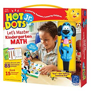 Educational Insights Hot Dots Jr. Let's Master Kindergarten Math Set, Homeschool & School Readiness Learning Workbooks, 2 Books & Interactive Pen, 100 Math Lessons, Ages 5+