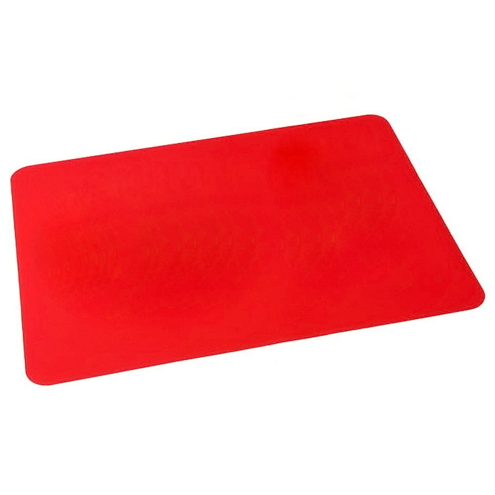Elisona-Silicone Placemat Heat Resistant Pads Cooking Baking Mat Bakeware Table Heat Insulation Mat Red