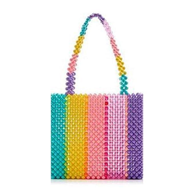 Amazon.com: Bolso de perlas de acrílico con cuentas, bolsa ...