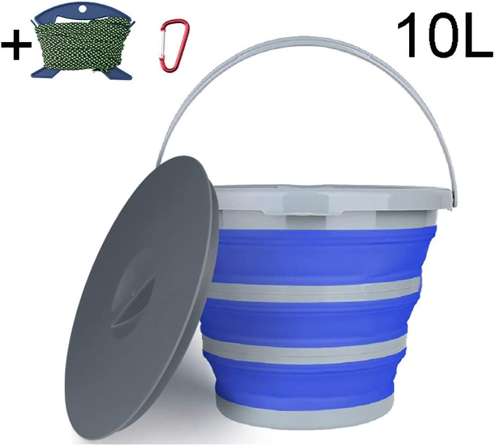 Details about  /Tool Portable Folding Bucket Water Storage Bag Carrier Bags Fishing Buckets