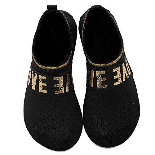 Equick Femmes Chaussures Deau À Séchage Rapide Reniflard Sport Peau Chaussures Pieds Nus Anti-dérapant Multifonctionnel Chaussettes Yoga Exercice Lj.black