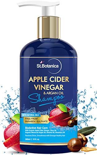 StBotanica Apple Cider Vinegar & Organic Argan Oil Hair Shampoo – 300ml – No Sulphate, No Parabens, No Silicon