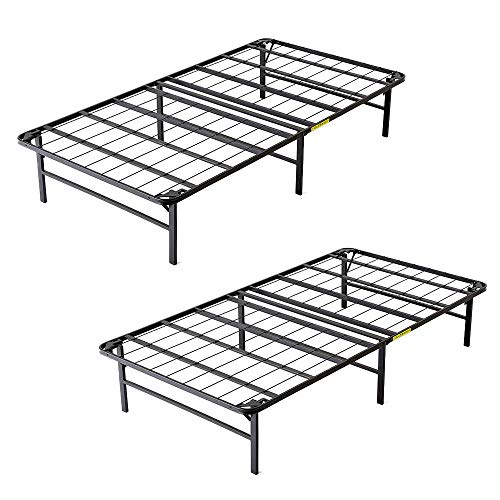intelliBASE Lightweight Bi-Fold Foldable Platform Metal Bed