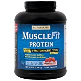 Fitness Labs MuscleFit Protein Blend (5 Pound, Strawberry Ice Cream)
