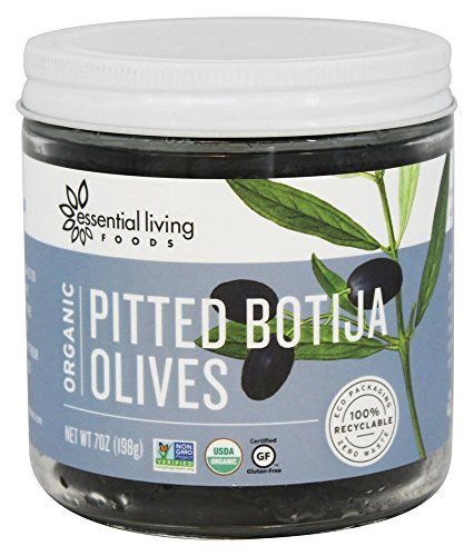 Essential Living Foods Organic Pitted Botija Olives -- 7 oz