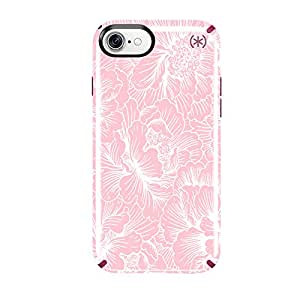 Speck Products Presidio Inked Cell Phone Case for iPhone 7 - Fresh Floral Rose/Magenta Pink