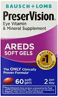Preservision AREDS Vitamin and Mineral Supplement Soft Gels, 60 Count