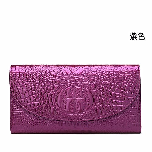 GUANGMING77 Bag_Herbst Krokodil Hand Tasche Violet NRXpcMgwGJ
