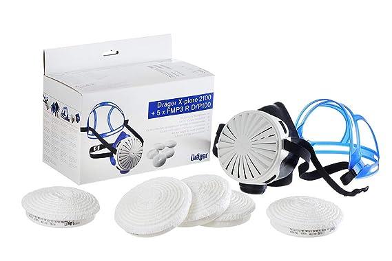 Dräger X Plore 2100 Set   Mehrweg Atemschutzmaske Aus EPDM + 5x FM P3  Filter, Universalgröße: Amazon.de: Baumarkt
