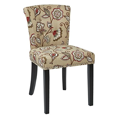 Ave Six Kendall Tufted Chair,Lotus Floral