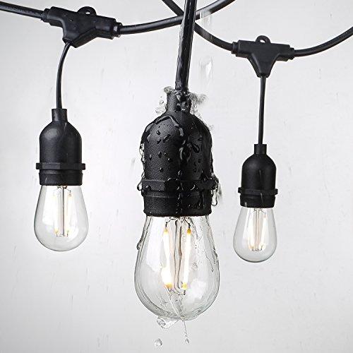 beslam 48ft waterproof led string lights decorative indoor outdoor string lights 16 hanging. Black Bedroom Furniture Sets. Home Design Ideas
