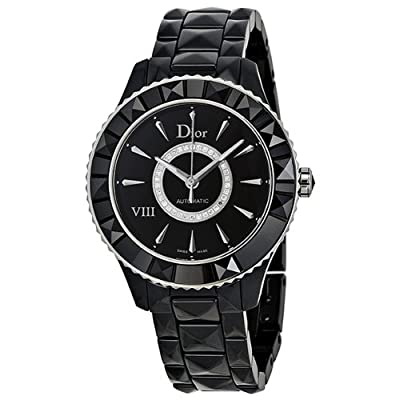 Christian Dior Women's CD1245E0C002 Black VIII Black Diamond Dial Automatic Watch