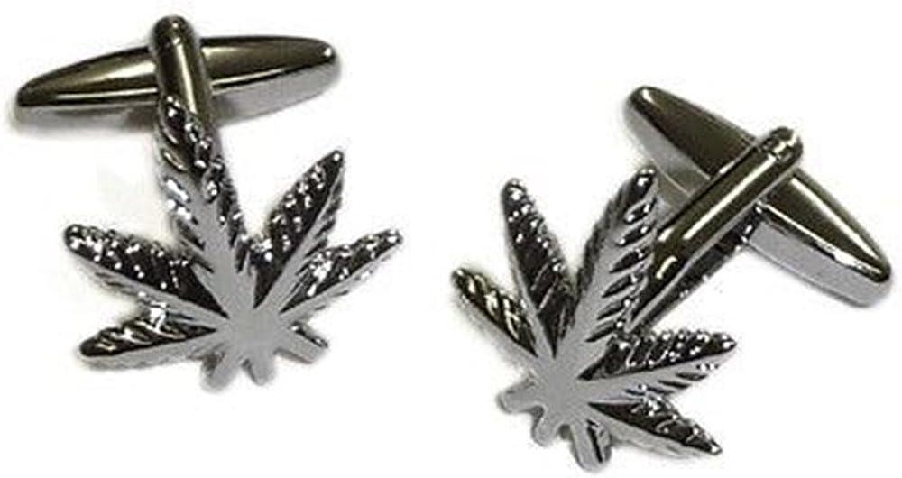 Procuffs Weed Plant Cannabis Green Mary Jane Cufflinks + Free Box & Cleaner