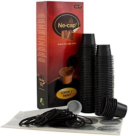 Ne-cap capsulas vacías compatibles para cafetera Nespresso 100 u ...