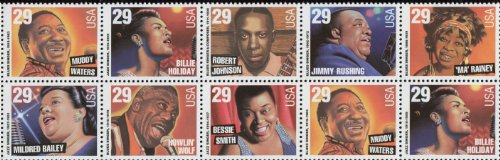 Music Stamp Series - JAZZ & BLUES SINGERS ~ MUDDY WATERS ~ ROBERT JOHNSON ~