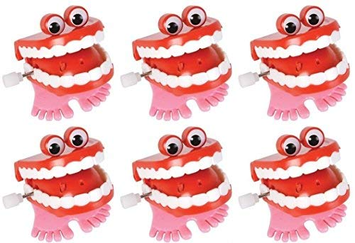 (Wind Up Chatter Teeth with Eyes - 12 pack)