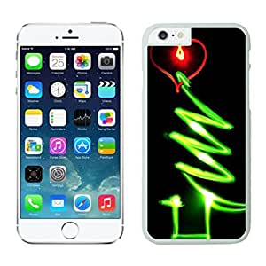 Personalization Red Heart Green Line Glow Christmas tree 1 White Phone Case For Iphone 6 4.7 Inch