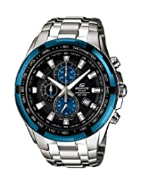 Casio Men's Edifice EF539D-1A2V Silver Stainless-Steel Analog Quartz Watch with Grey Dial