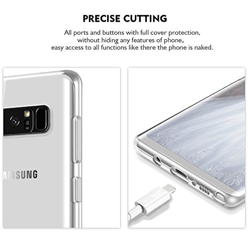 Galaxy Note8 Case, GeekZone Galaxy Note 8 Slim Fit Crystal Clear Lightweight Cover Thin Protective Shell Shock Absorbing Soft Rubber TPU Bumper Protection Case Cover for Samsung Galaxy Note 8(2017)