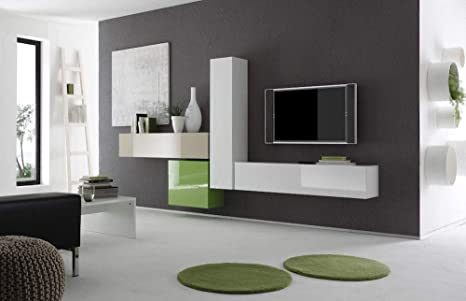 Pareti Salotto Verde : Sodani parete attrezzata mobili salotto mobili sospesi