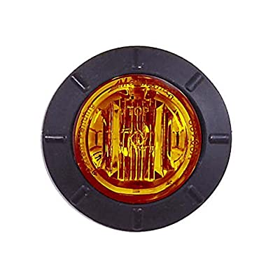 "Maxxima M09400Y Amber 1.25"" Round LED Mini Combination Clearance Marker Light: Automotive"