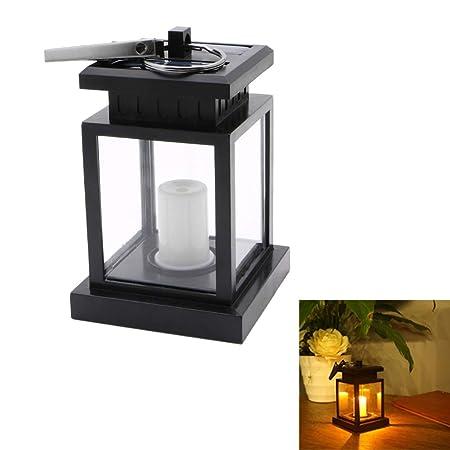 Kafen - Lámpara solar para exterior (luz solar led, vela de mesa ...