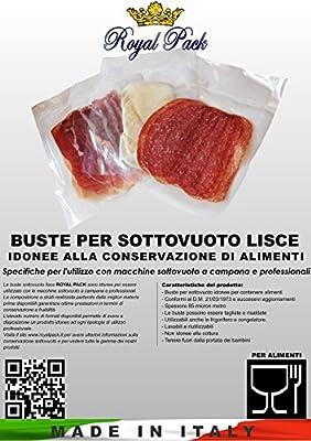 ROYAL PACK fundas y bolsas para envasado al vacío lisas para alimentos 35 x 25 Juego de 100 bolsitas: Amazon.es: Hogar