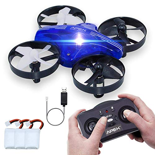 Fubosi Mini Drone RC Nano Quadcopter Toy for Kids Beginner Starter, 3 Drone Batteries Included, Headless Mode 3 Speed with 3D Roll 4CH 6 Axis Altitude Hold Little Gift for Boys or Girls(Blue)